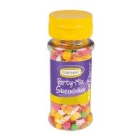 6 St. Streudekor, Party-Mix, 54 g / St