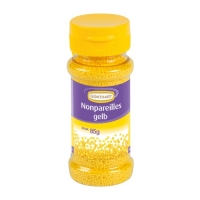 12 Streudekor Zucker Nonpareilles, gelb, 85g