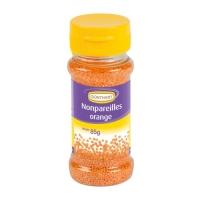 12 Streudekor Zucker Nonpareilles, orange, 85g