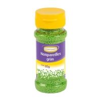 12 Streudekor Zucker Nonpareilles, grün, 85 g