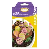 15 Schokolade, bunte Eier