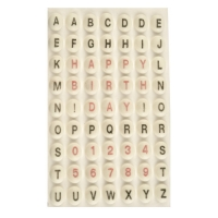 882 St. Zucker-Buchstaben und Zahlen