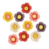 100 St. Marzipan-Blume sortiert
