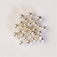 Silberperlen mit Schokoknusperkern