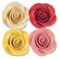 24 St. Marzipan-Rosen groß sortiert