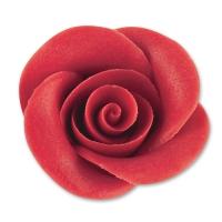 24 St. Marzipan-Rosen rot groß