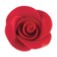 24 St. Marzipan-Rosen rot groß mit AZO
