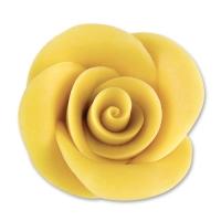 24 St. Marzipan-Rosen gelb groß