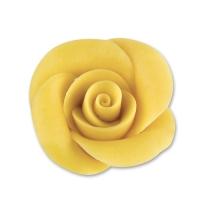 36 St. Marzipan-Rosen, gelb, mittel