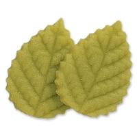 100 St. Rosen-Blätter, grün, groß