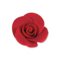 48 St. Marzipan-Rosen, klein, rot mit AZO