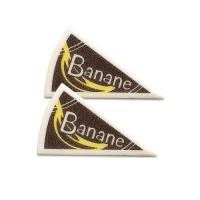 120 St. Spezialitäten-Dekor  Banane  aus Dekormasse