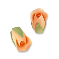 36 St. Feinzucker Rosenknospen lachs-orange