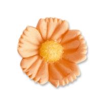 96 St. Feinzuckerblumen mittel lachs-orange