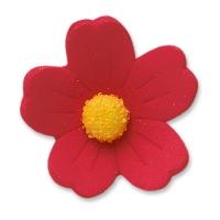 60 St. Feinzuckerblumen gross rot