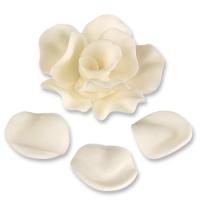 9 Feinzucker-Rosen und 24 Blütenblätter weiss