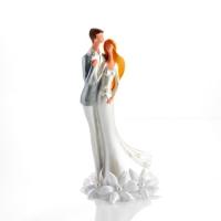 1 St. Großes Poly-Brautpaaraufsatz mit Blumendekoration