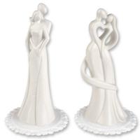 2 St. Porzellan-Brautpaaraufsatz, weiß