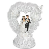 1 St. Poly-Brautpaar-Aufsatz, groß