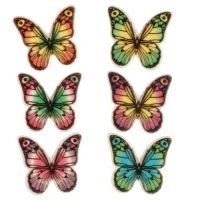 100 St. Dekor-Kleinteile Schmetterlinge