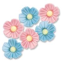 Blumen, blau, rosa, groß