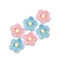 96 St. Blumen, blau, rosa, klein