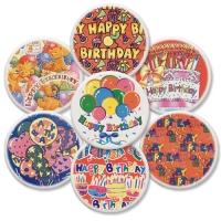 12 St. Dekor-Schilder  Happy Birthday