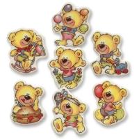 100 St. Dekor-Kleinteile  Bären