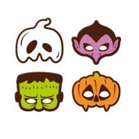 Halloween Masken, dunkle Schokolade, sortiert