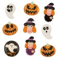 Zuckerfiguren Halloween, flach sortiert