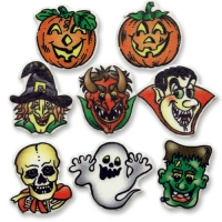 100 St. Dekor-Kleinteile Halloween