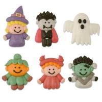 72 St. Zuckerfiguren Halloween , flach sortiert