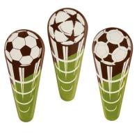 Einstecker Fußball, dunkle Schokolade