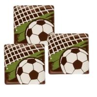 Quadrat, Fußball, dunkle Schokolade