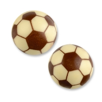 Fußball Hohlkugel 3D, weiße Schokolade