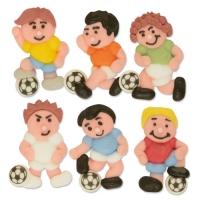 Zucker-Fußballer flach, sortiert