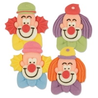 48 St. Clown-Köpfe, flach, groß