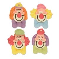 60 St. Clown-Köpfe, flach, klein