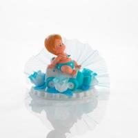 1 St. Poly-Tauf-Aufsatz, Baby auf Flasche, blau