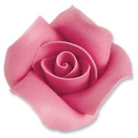 12 St. Marzipan-Rosen, rosa, groß