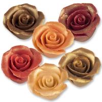 24 St. Marzipan-Rosen antik, groß, sortiert