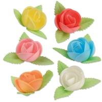 Oblaten-Blumen mit Blättern, groß, sortiert