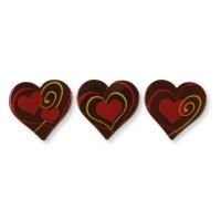 160 St. Herz, dunkle Schokolade, sortiert