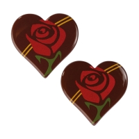 160 St. Herz Rose, dunkle Schokolade