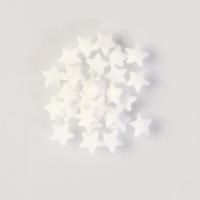Streudekor, Zucker-Sterne weiß