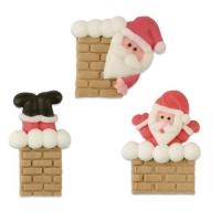 Zucker-Nikolaus im Kamin, flach, sortiert