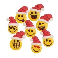 Zucker-Gesichter mit Nikolausmützen