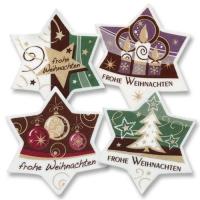 """Dekor-Sterne """"Frohe Weihnachten"""", groß"""