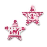 Dekor-Sterne Winter, rot, sortiert, aus Dekormasse