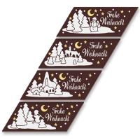 """Schokoladen-Streifen """"Frohe Weihnacht"""""""